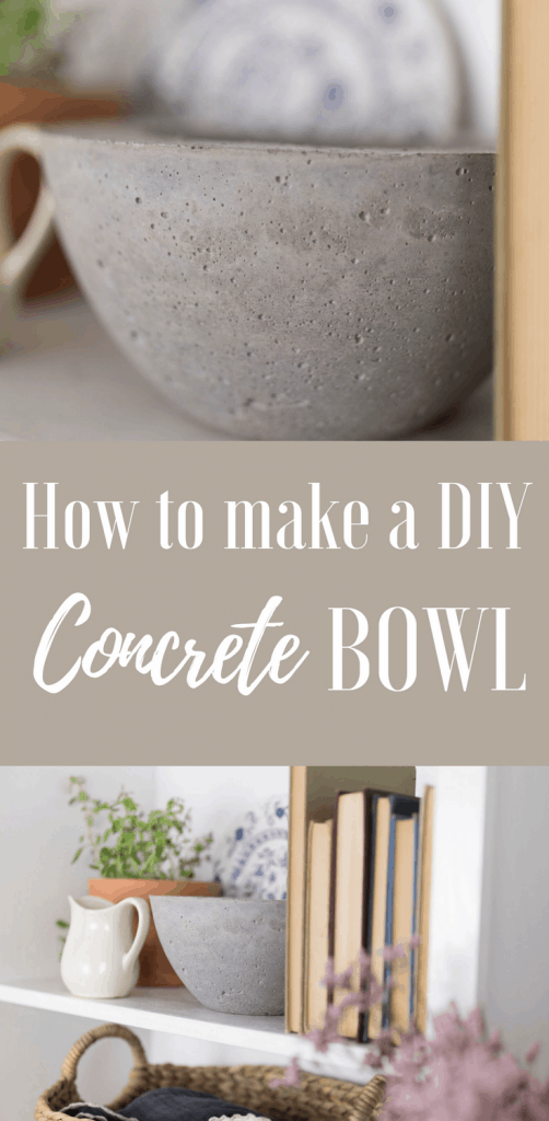How to Make a DIY concrete bowl from the French Vintage Decor Book