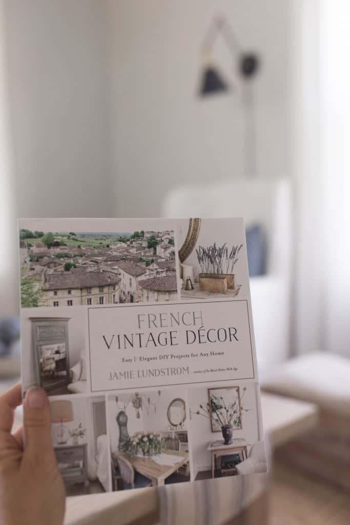 french vintage decor book concrete bowl project